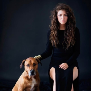 Lorde with Dog Portrait